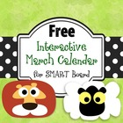 Free Interactive March Calendar, Smartboard