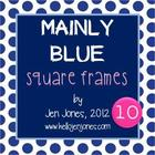 Free &quot;Mainly Blue&quot; Square Frames &amp; Backgrounds Collection