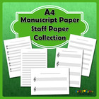 Free Manuscript Paper / Staff Paper Collection - A4 Paper Size