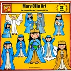 Free Christian Clip Art: Mary for Personal Use by Charlott