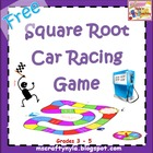 Free Math Square Root Car Racing Board Game