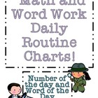 Free Math and Word Work Daily Routine Charts!