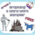 Free Graphing and Word Activities Grade 2 Castle Theme