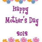 Free Mother&#039;s Day Booklet 2012