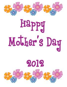 Free Mother's Day Booklet 2012