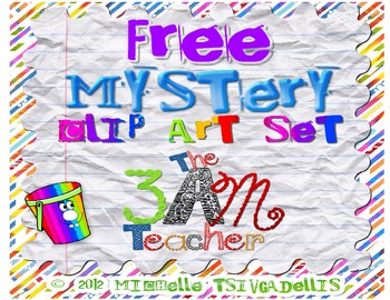 Free Mystery Clip Art Set by The 3AM Teacher