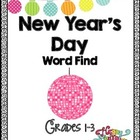 Free New Year's Day Word Work