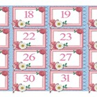 Free Number Cards 17-31  Ribbon Calendar Numbers