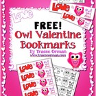 Free Owl Bookmarks for Valentine&#039;s Day