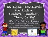 Free QR Code Receptive Vocabulary Task Cards {Autism}: Fea