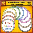 Free Rainbow Striped Classroom Labels from Charlotte's Clips