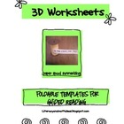 Free Reading Response Templates:  3D Worksheets!