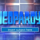 Free Ready-To-Use Jeapardy Game
