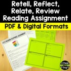 Retell, Relate, Reflect, Review Assessment Bundle