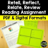 Free Retell, Relate, Reflect, Review Complete Assessment Package