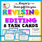 Free Revising and Editing Task Cards With Worksheet