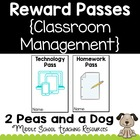 Free: Reward Passes for Classroom Management