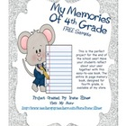 Free Sample Pages From Fourth Grade Memory Book