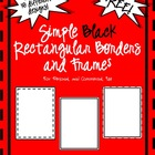 Free Simple Black Rectangular Frames & Borders Clip Art fo
