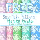 Free Snowflake Background Patterns: Set #1