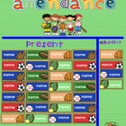 Free Sports Theme Attendance SMART Board Slide