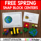 Spring Snap Cube Counting Center {Simply Kinder}