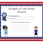 Free Stars and Stripes Student of the Week Certificates an