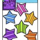 {Free} Striped Stars {Creative Clips Digital Clipart}