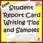 Free Student Report Card Writing Tips and Sample Guides