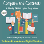 Free Study Skill Graphic Organizer:  Compare and Contrast 