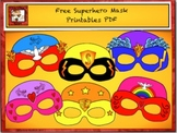 Free Superhero Masks Printables by Charlotte's Clips