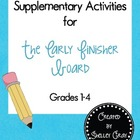 Free Supplementary Activities for the Early Finisher Board