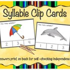Free Syllable Clip Cards