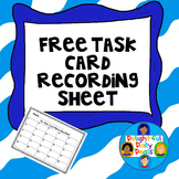 Task Card Recording Sheet {Freebie} {Task Cards}