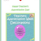 Free Teachers Appreciation Week Classroom Decorations