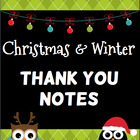 Free Thank You Notes for Christmas