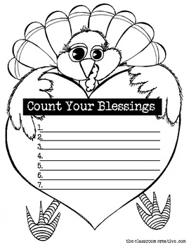 Free Thanksgiving Writing Prompt: Count Your Blessings