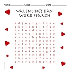 Free Valentine&#039;s Day Word Search