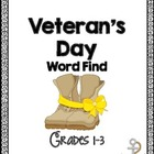 Free Veteran's Day Word Work