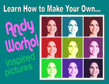 Free Video Tutorial: Warhol Inspired Pictures
