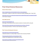 Free Virtual Science Resources