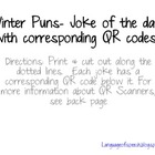 Free! Winter Joke of the Day with QR codes