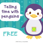 {Free} Winter Math - Telling Time with Penguins - 2 differ