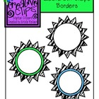 {Free} Zebra Fever Borders {Creative Clips Digital Clipart}