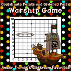 Free coordinate points and ordered pairs game:  &quot;Warship&quot;