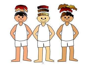 Free sample: Boys with clothes for seasons and color words