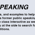 Free web site: Teaching Public Speaking
