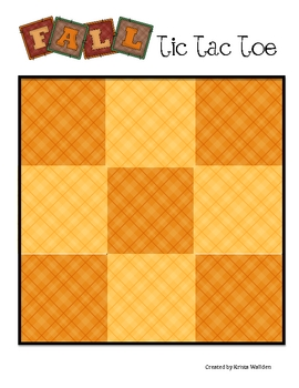{Freebie} Autumn Memory Game and Tic Tac Toe