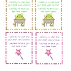 Freebie: Desk Fairy or Desk Frog Clean Desk Note