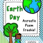Freebie ~ Earth Day Acrostic Poem